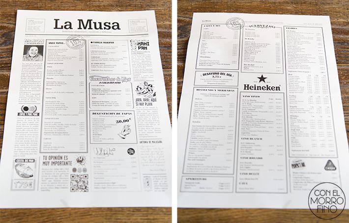 517 best images about restaurant menu design on pinterest - La musa latina ...