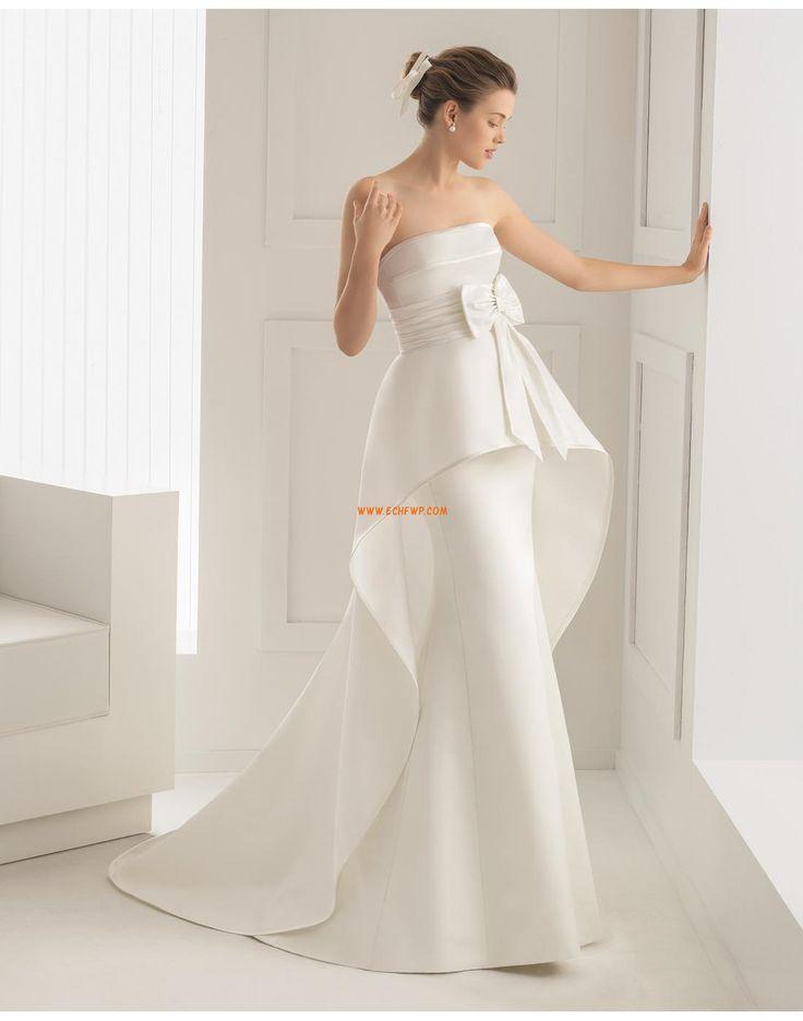 Klasické & nadčasové Podzim Bez rukávů Svatební šaty 2015