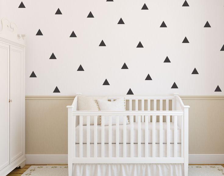 Väggdekor / Wall stickers- trekanter - barnrum inredning