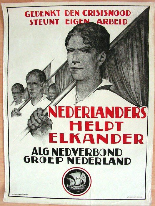 Propaganda: A.N.V. - Ontwerp: Willem van den Berg - ca. 1930
