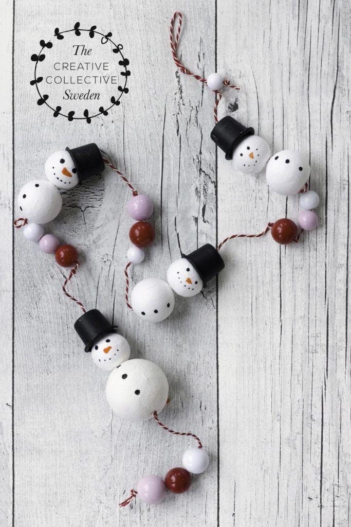 Snow Man Garland from Pysselbolaget