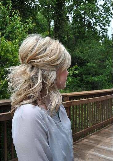 En général, celles qui ont les cheveux fins rêvent de leur donner du volume. Voici 25 coiffures qui ... - Photo Pinterest