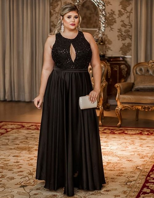 Vestido de festa plus size: 10 modelos para usar em 2019 | Naza | Plus size prom dresses, Prom dresses, Fancy dress plus size