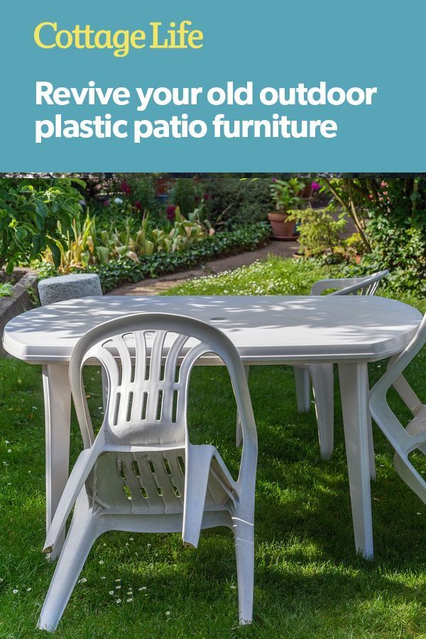 How To Revive Your Old Plastic In 2020 Plastic Patio Furniture