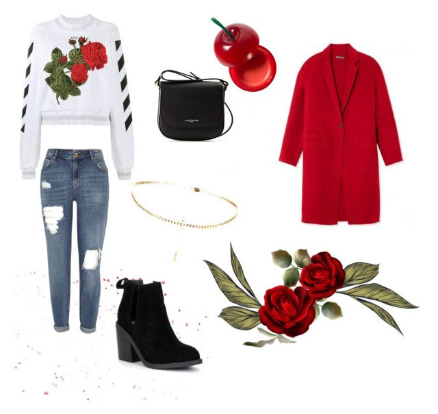 """""""🌹"""" by stacyk01 on Polyvore featuring мода, Off-White, River Island, Steve Madden, Lancaster и TONYMOLY"""