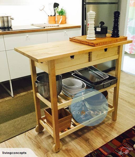 IKEA FORHOJA Kitchen trolley / hallway table | Trade Me