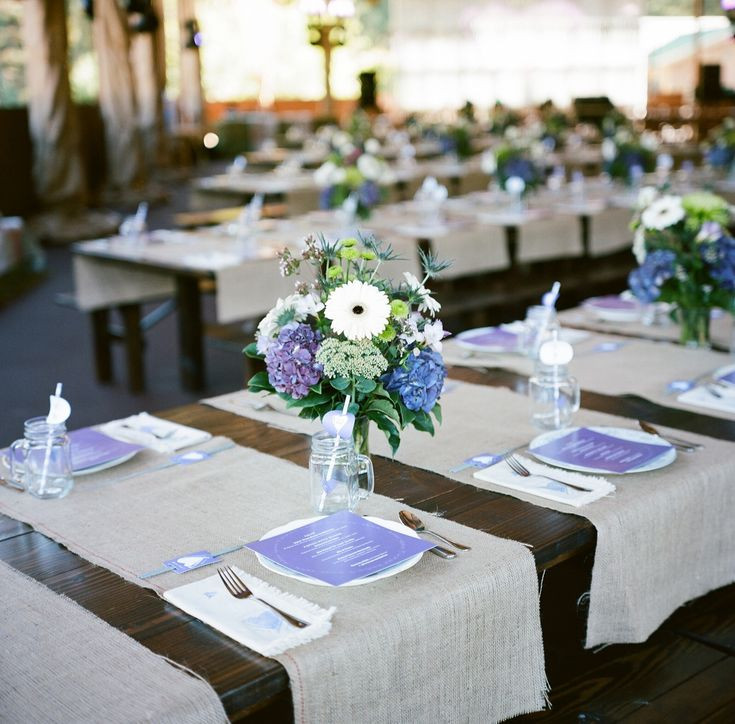 Purples and blues. Dollar Store mugs. Bainbridge Island Wedding {Bryan Johnson Photography}