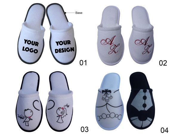 50 pairs  Personalized Slippers for your by PersonalizedSlippers