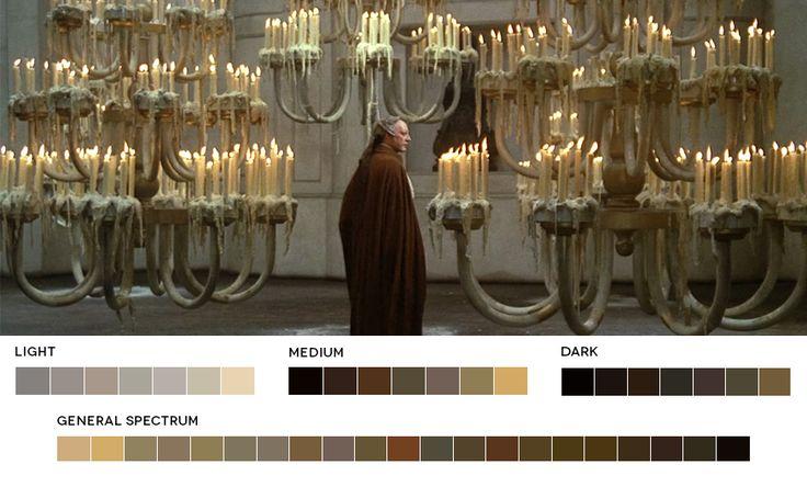 The color pallets of films website. Federico Fellini WeekFellini's Casanova, 1976Cinematography:Giuseppe Rotunno