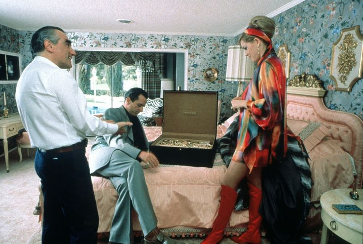 Martin Scorsese, Robert De Niro and Sharon Stone on the set of Casino (1995)
