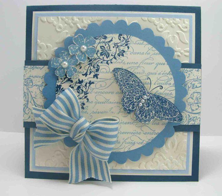 Голубые открытки своими руками