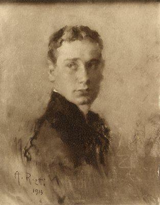 Ritratto di Guido Brunner | Arturo Rietti | 1913  * Guido Brunner, sottotenente di Cavalleria, nato a Trieste il 19/2/1893, morto sul Monte Fior il 8/6/1916.
