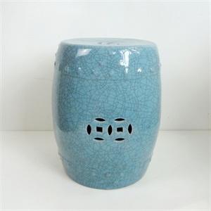 Ceramic Drum stool to sit beside chair