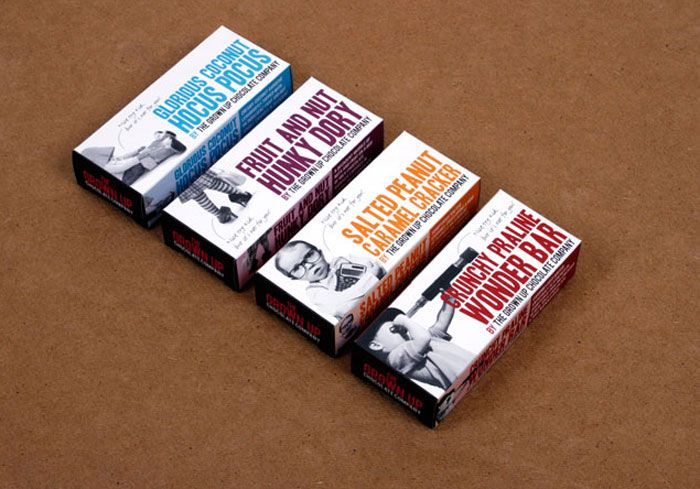 The Dieline's Top 25 Chocolate Bar Packages: The Grown Up Chocolate Company - This one is too cute! :3