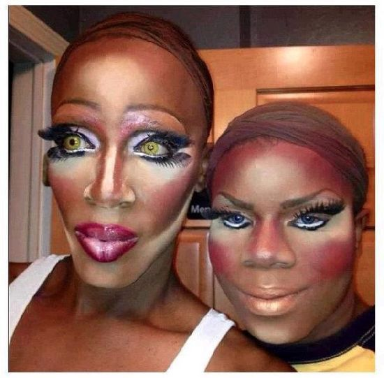 OMG! Contouring gone wrong