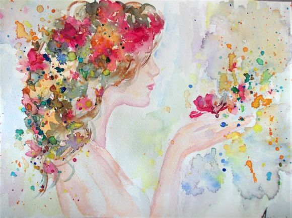 Spring I -Original watercolor painting