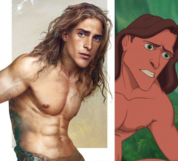 . disney illustrations new versions . TARZAN