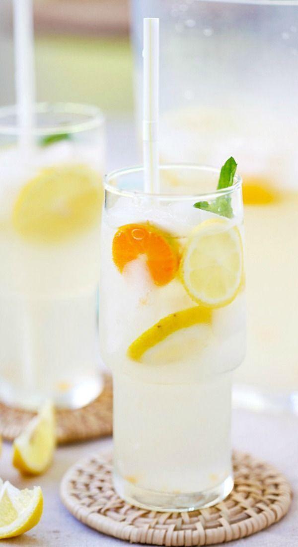 Coconut Water Lemonade – amazing and refreshing lemonade made with coconut water and fresh lemon juice. The best lemonade recipe ever!   rasamalaysia.com