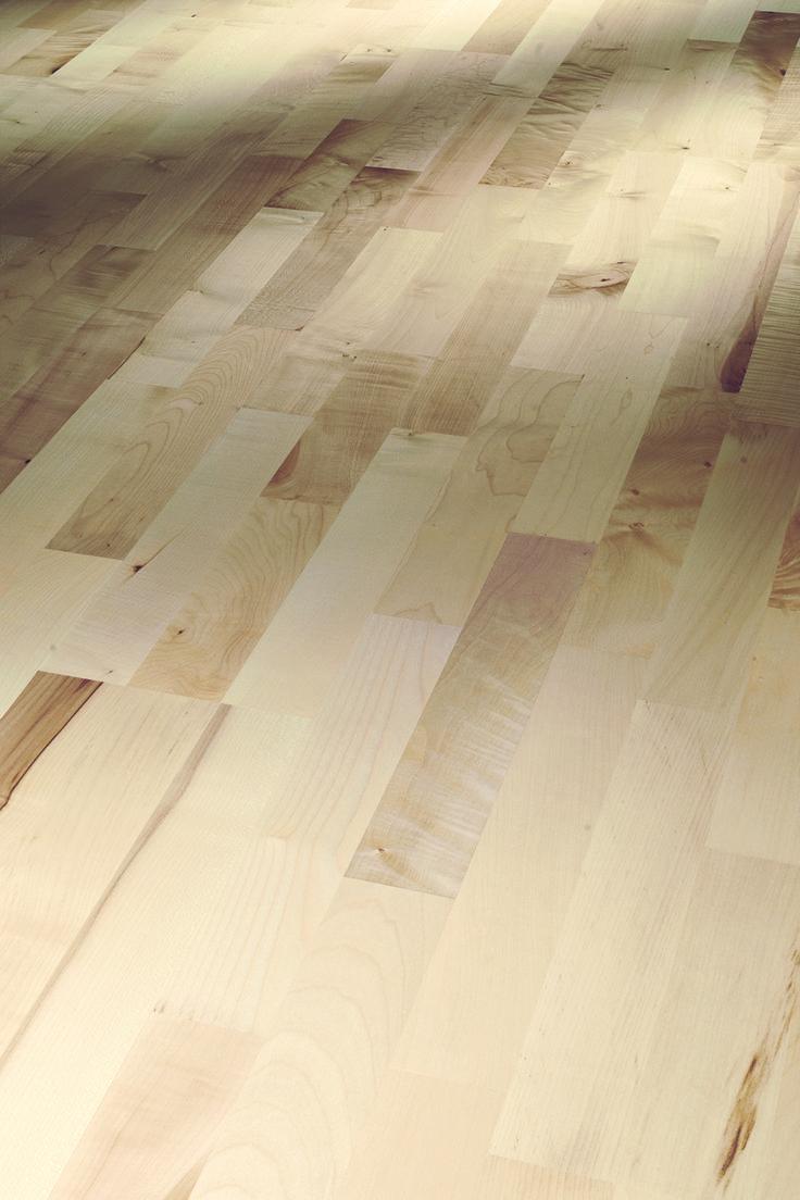 1366065 Parador Parkett Basic Schiffsboden Bergahorn rustikal matt lackiert weiß