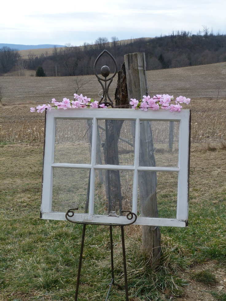 Reserve For Beverly Vintage Wood White Window For Wedding Seating Charts 6 panel Shabby Chic Wall Decor Window. $30.00, via Etsy.