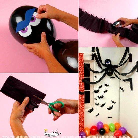 Decoración con globos para Halloween