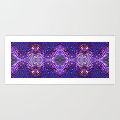 Abstract: Vibrations Art Print by Sonia Marazia - $15.60