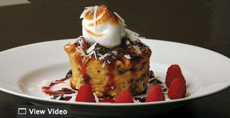Nick Stellino Dried Cherry White Chocolate Bread Pudding