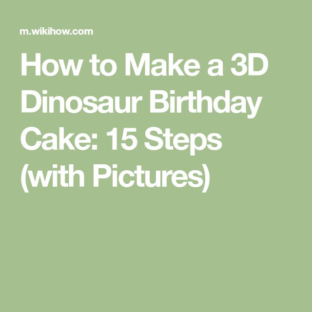 how to make a dinosaur shaped birthday cake