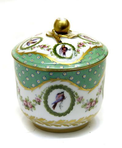 A Sèvres porcelain sugar bowl and cover (pot à sucre) third quarter 18th century