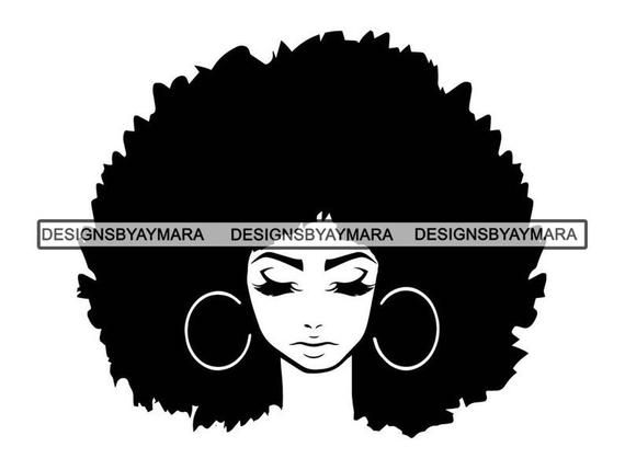 Black Women Nubian Princess Queen Afro Hair Beautiful African American Female Lady Svg Eps Png Vec Black Woman Silhouette Afro Women Black Girl Magic Art