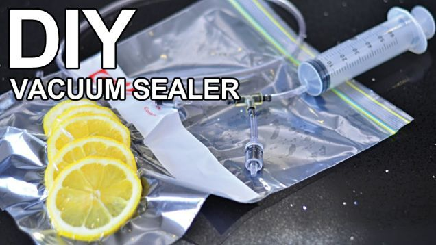 Vacuum sealers make it possible to keep your food in airtight packages, extending its freezer storage lifetime. This DIY vacuum sealer tool will work with Ziploc-style bags and is pretty cheap to build.
