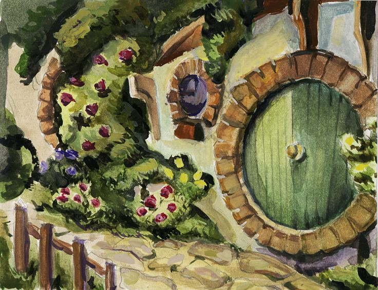 569 best home sweet hobbit home images on pinterest for Hobbit house drawings