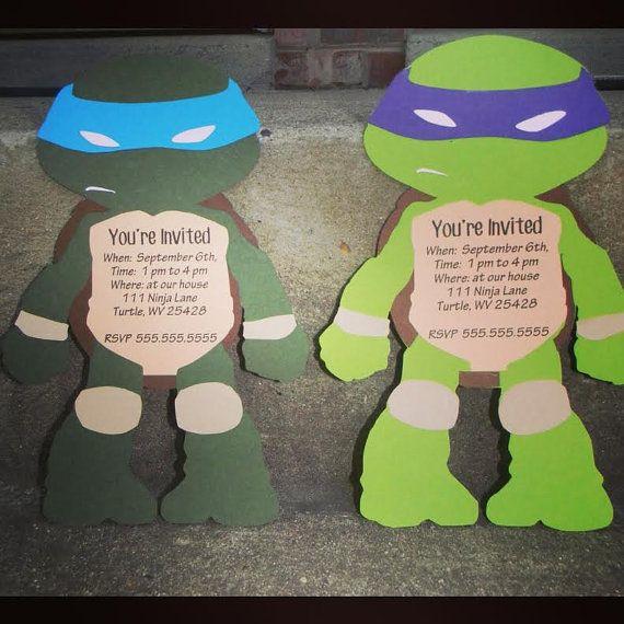 Teenage Mutant Ninja Turtles Invitations by CreativeCoupleDnT