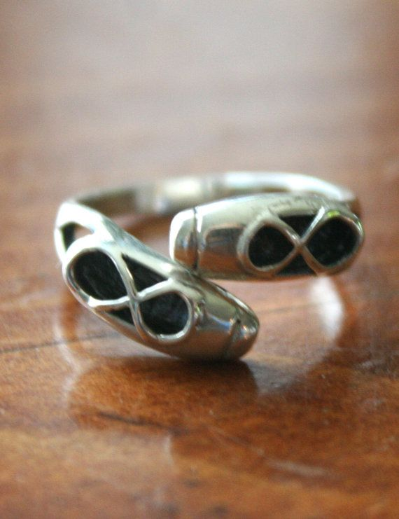 Ballet Shoes Ring Sterling Silver Adjustable by kandsimpressions, $30.00