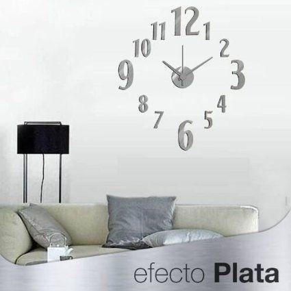 M s de 1000 ideas sobre reloj pared adhesivo en pinterest - Reloj pared adhesivo ...