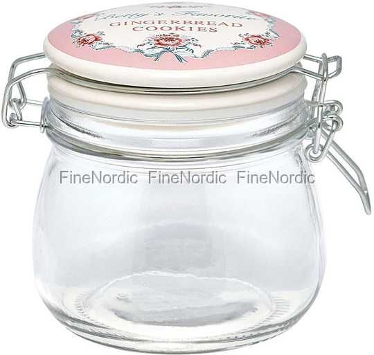 GreenGate Glaskrukke - Storage Jar Betty Pale Pink 500 ml