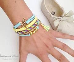 Brățări friendship | via Facebook  #accessoriesmaria #bracelets #jewelry #accessories  #jewels #pretty #colorful #gold #friendship #infinite