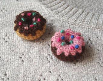 Amigurumi sweets Crochet brooches Ice Cream Cupcake by biribis