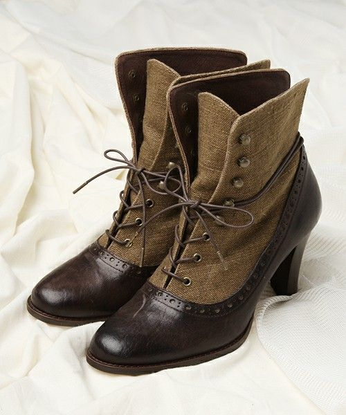 I don't normally wear heels, but I might wear these Victorian-style boots for a special occasion. Like a wedding.