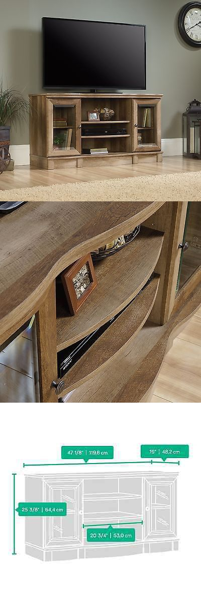 Entertainment Units TV Stands: Tv Stand - Craftsman Oak Finish - Sauder Select (420048) BUY IT NOW ONLY: $172.0