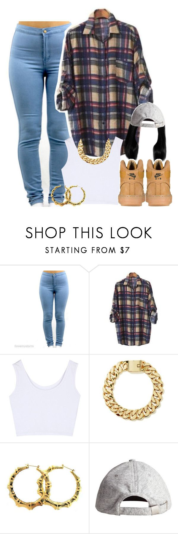 """Untitled #1463"" by lulu-foreva ❤ liked on Polyvore featuring PEPER, H&M and NIKE"