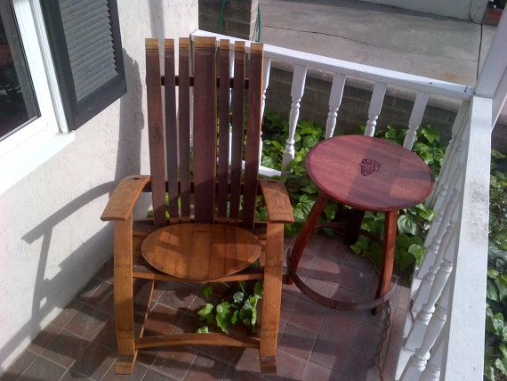 ... chair side table side tables wine barrels wine lover rocking chairs