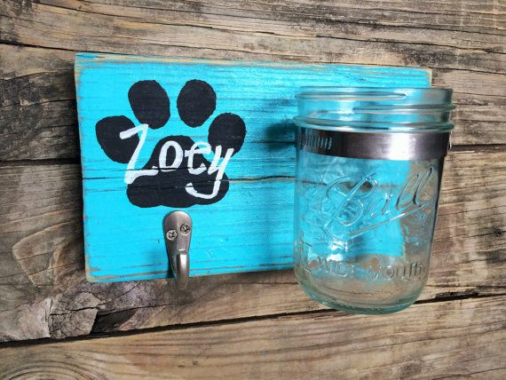 Caribbean PAWesome Leash and Treat Holder by theDogPawCo on Etsy