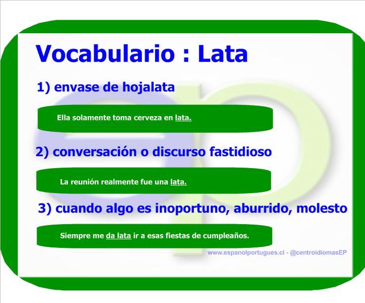 Vocabulario del día: LATA