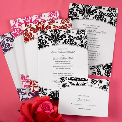 Occasion Outfitters ♥Floral Filigree On White Value Style And Save With  This Bright White, Invitation Card Featuring A Floral Filigree Design, ...