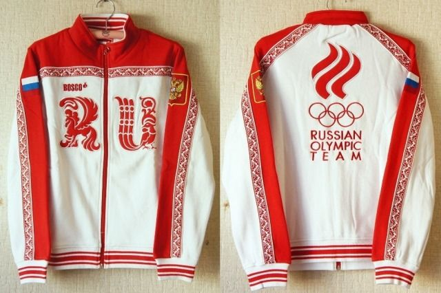 【予約販売】Bosco sport(ボスコスポーツ) ソチ五輪・ロシア代表選手団 公式ジャージ上着<RU> 女性用 【ユーリ!!!on ICE】 【送料無料】