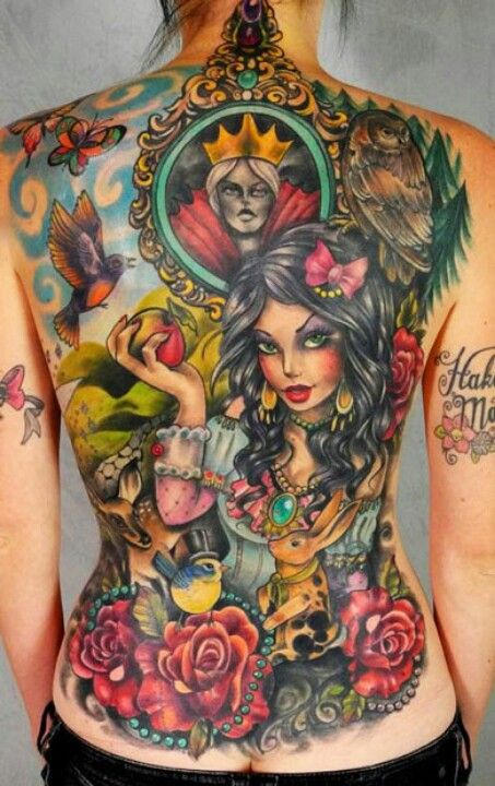 amazing Back piece! beautiful colour and detail!!!