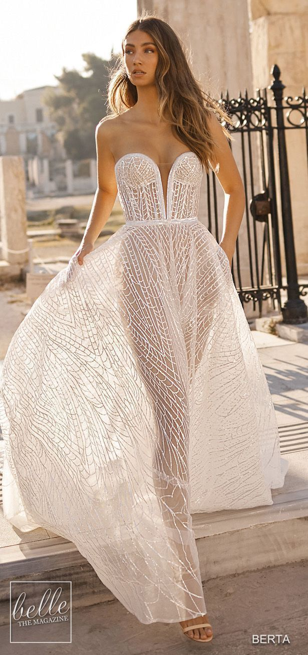 Berta Wedding Dresses 2019 Athens Bridal Collection Strapless