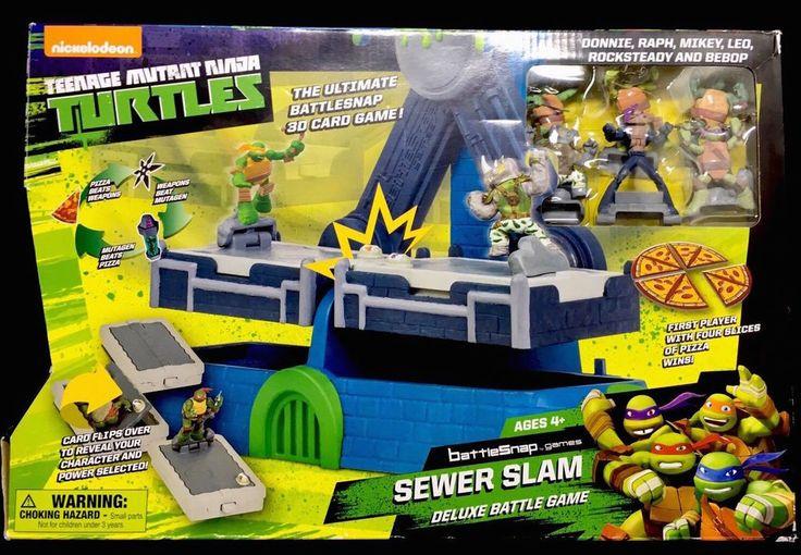 Teenage Mutant Ninja Turtles Battlesnap Sewer Slam Deluxe Battle Game **NEW** #NickelodeonTeenageMutantNinjaTurtles