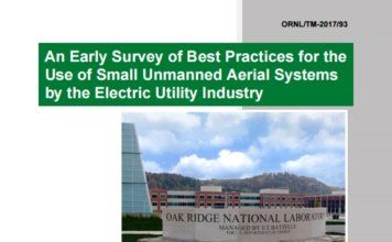 Oak Ridge National Laboratory (ORNL) best practices for the use of sUAS by the Electric Utility Industry